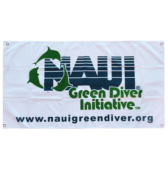 Picture of Flag, NAUI Green Diver