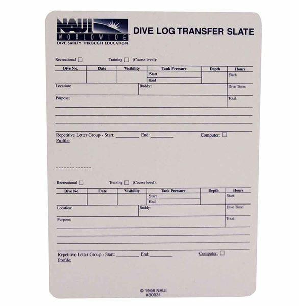 Deluxe Dive Log Transfer Slate
