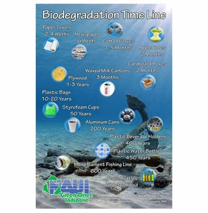 NAUI Green Diver Biodegradation Poster