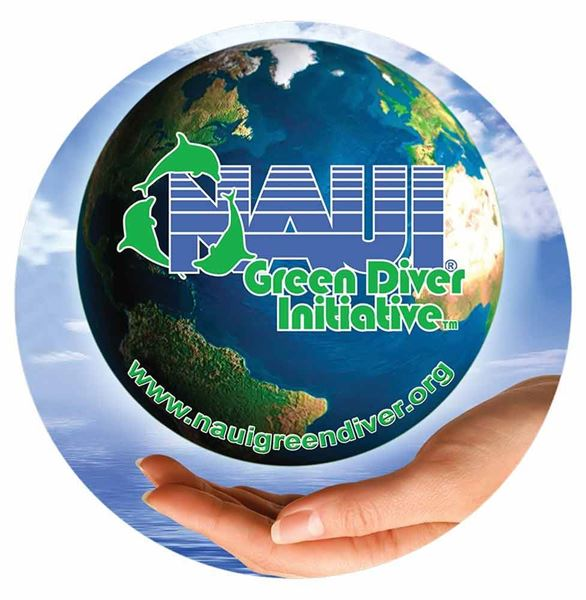 NAUI Green Diver Decal