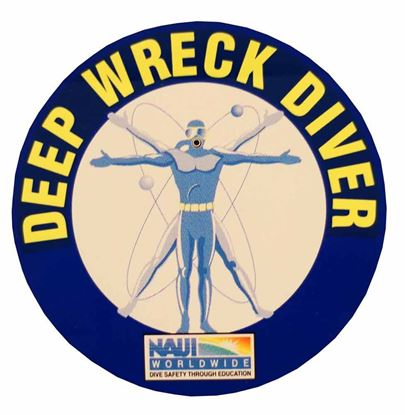 Deep Wreck Diver Decal