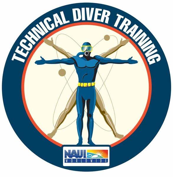 Technical Diving Center Door Decal (15 inch)