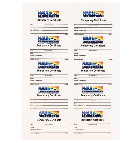 Temporary Certification Cards (10 per pkg)