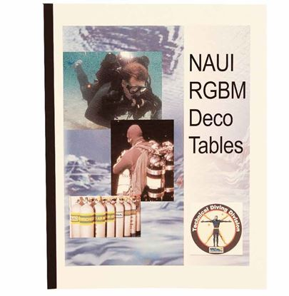 NAUI RGBM Decompression Tables Textbook