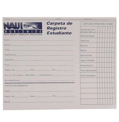 NAUI Student Record Folder - Spanish