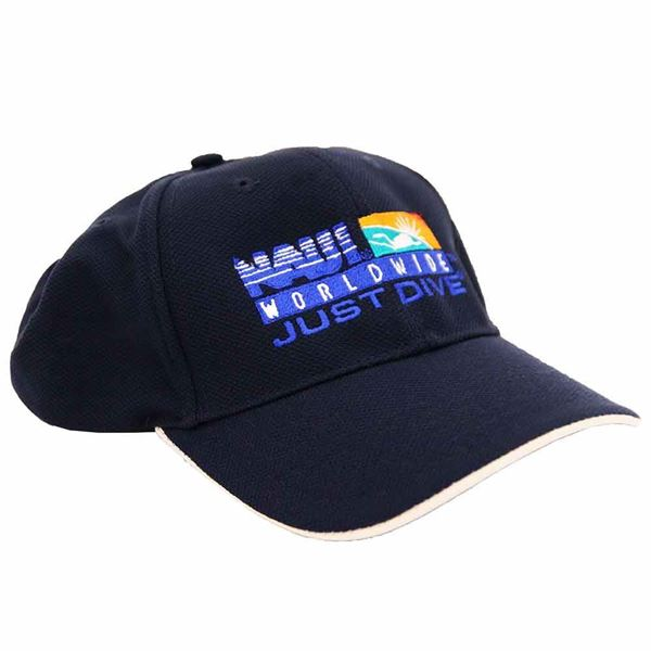 NAUI Logo Navy w/Stone trim CAP