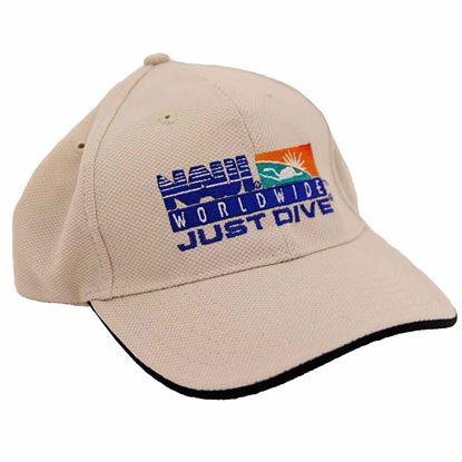 NAUI Logo Stone w/Black trim CAP