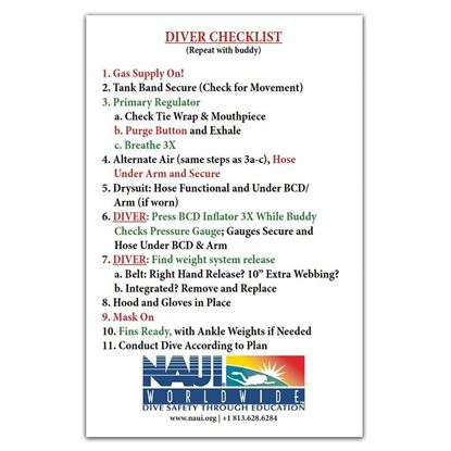 Picture of Scuba Diver Checklist
