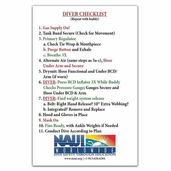 Picture of Scuba Diver Checklist